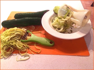 Zucchini Pasta - Two Different Shredders