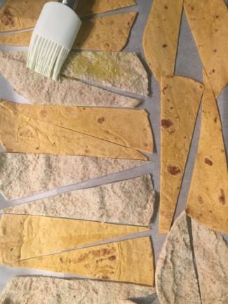 Brush with olive oil, sprinkle with sesame seeds, herbs, salt or seasoning