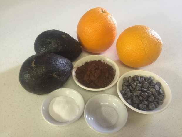 Ingredients For The Avocado ~ ORANGE ~ Chocolate Mousse