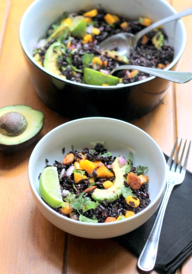 Black Rice Salad with Mango and Avocado