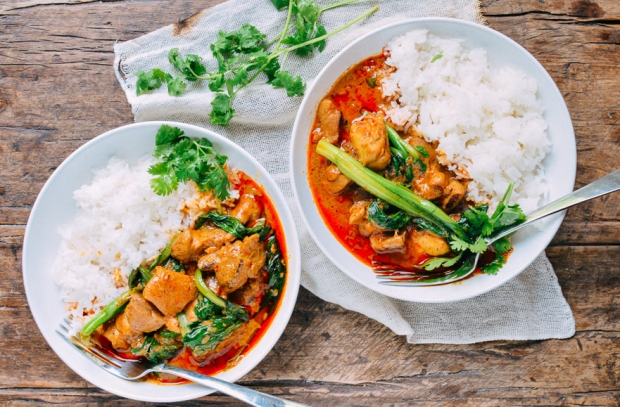 Red Thai Curry Chicken with Jasmine Rice