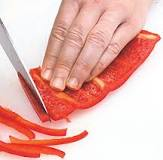 Easy Sliced Red Peppers